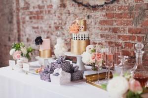 chanel inspired dessert display