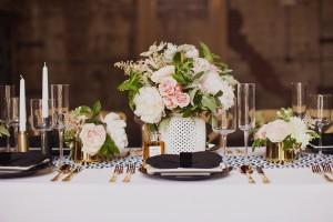 romantic pink centerpiece