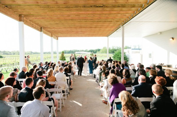 outdoor winery ceremony
