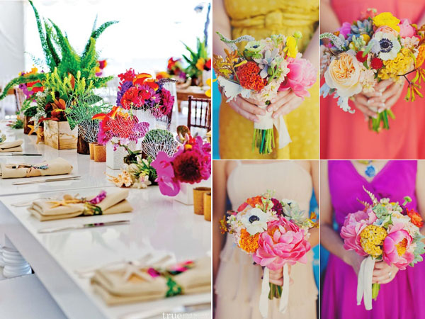 colorful wedding perfect pair