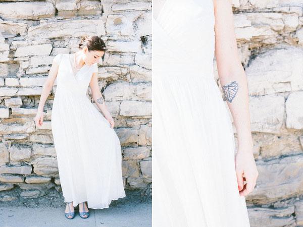 wedding dress & tattoo