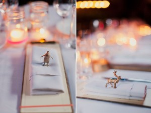 gold animal place settings