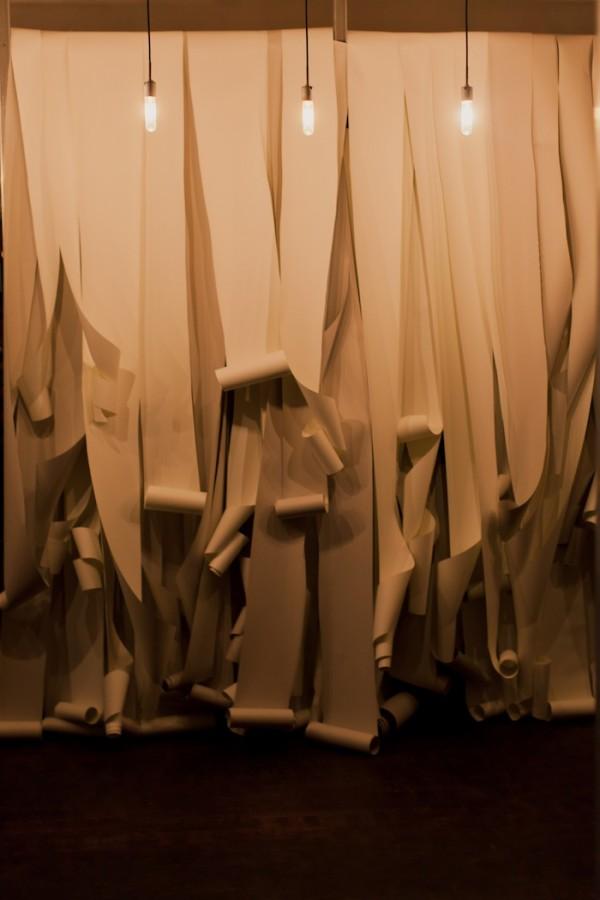 paper ceremony backdrop