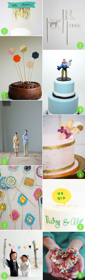 top 10: cake toppers 3