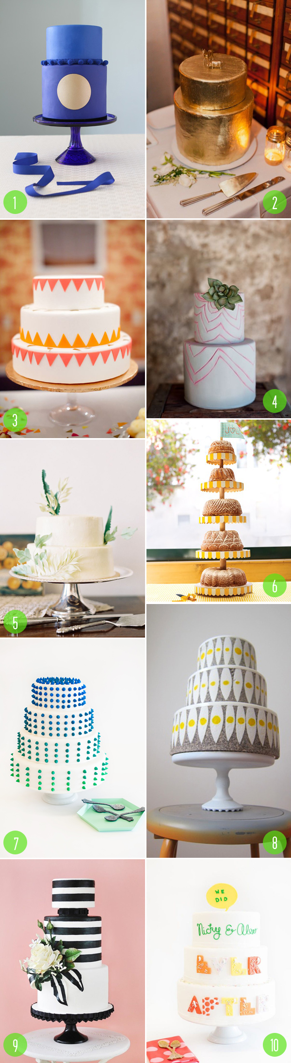 top 10: modern wedding cakes 6