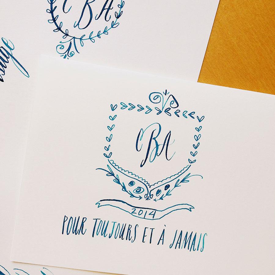 Modern calligraphy brooklyn bride wedding