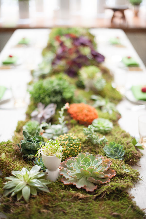 Mossy Donna Wilson Inspired Tablescape Brooklyn Bride