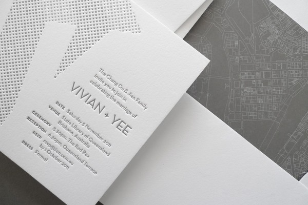 architectural wedding invitations