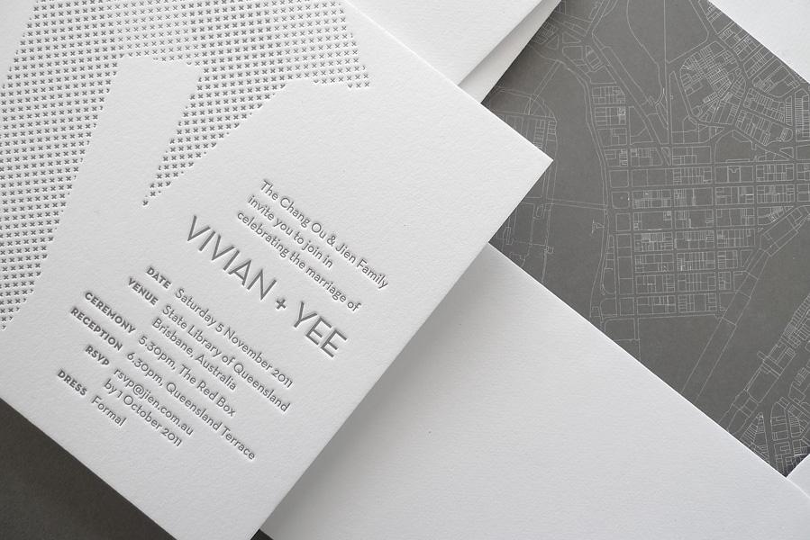 architectural wedding invitations - Brooklyn Bride - Modern