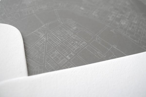 architectural wedding invitations