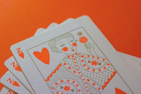 playing card invitation