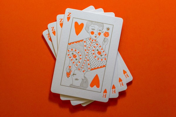 playing card invitation