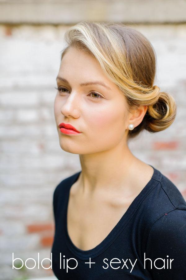 bold lip sexy hair
