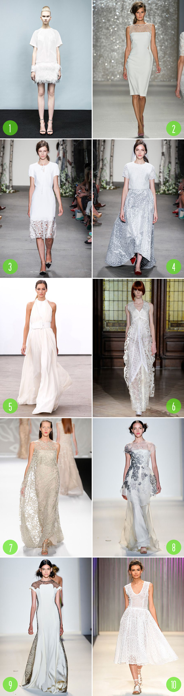 Top 10: white dresses RTW 2014