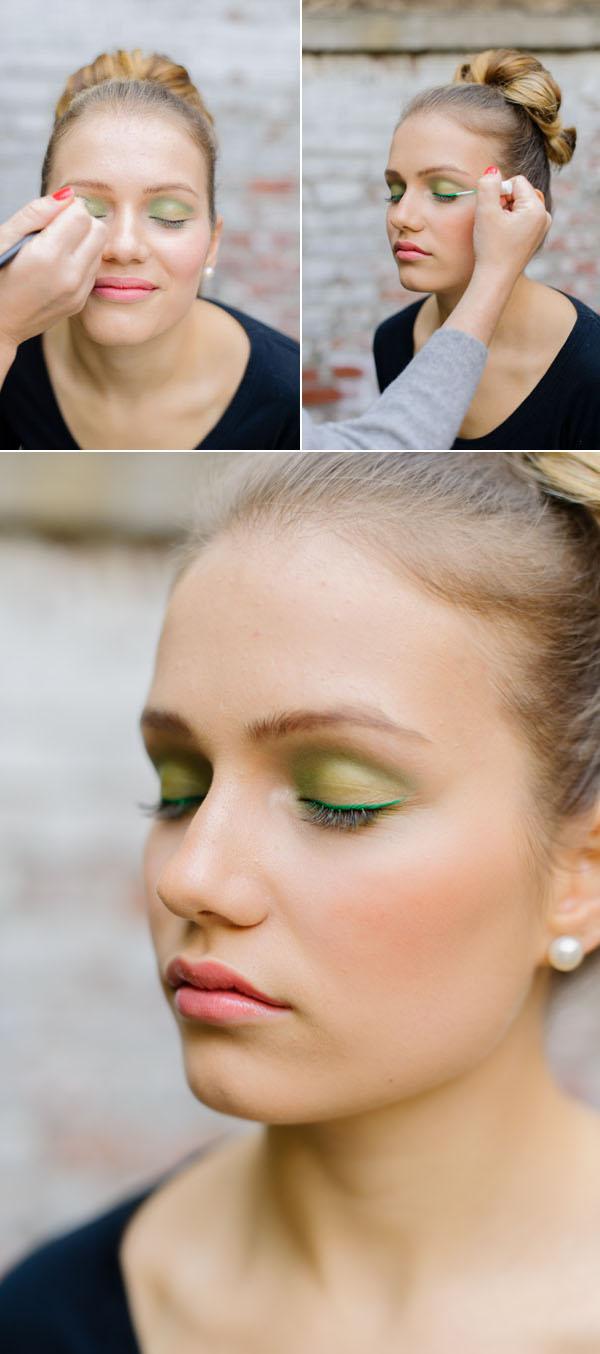 green eyeliner makeup tutorial