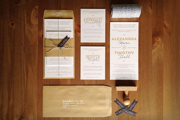 flemish wedding invitations