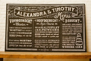 chalkboard wedding sign