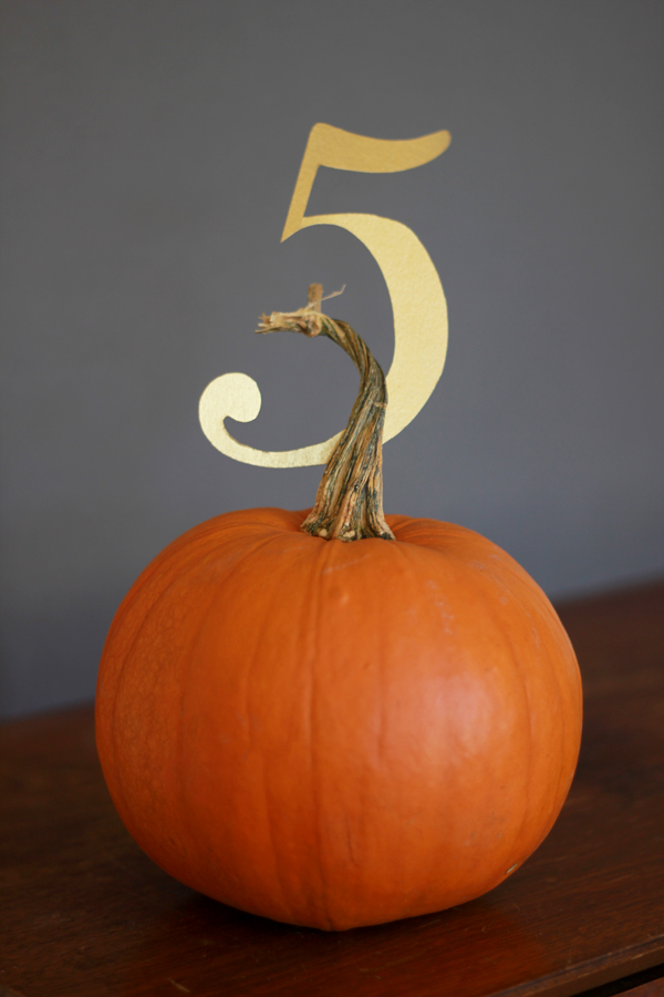 pumpkin-number-for-wedding