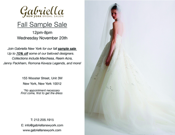 Gabriella New York Sample Sale