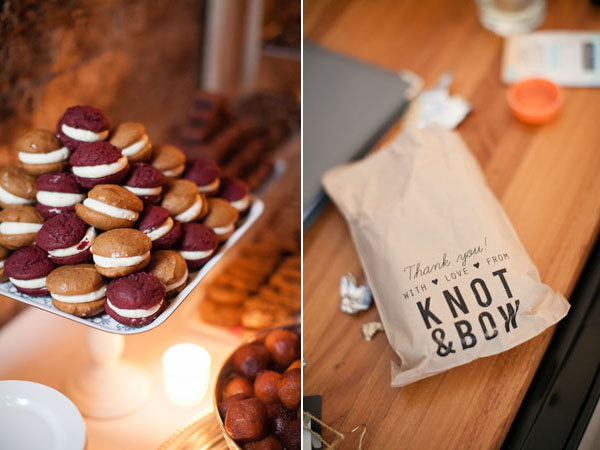 whoopie pies and favors