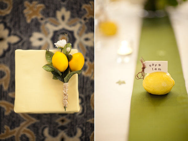 lemon boutonniere