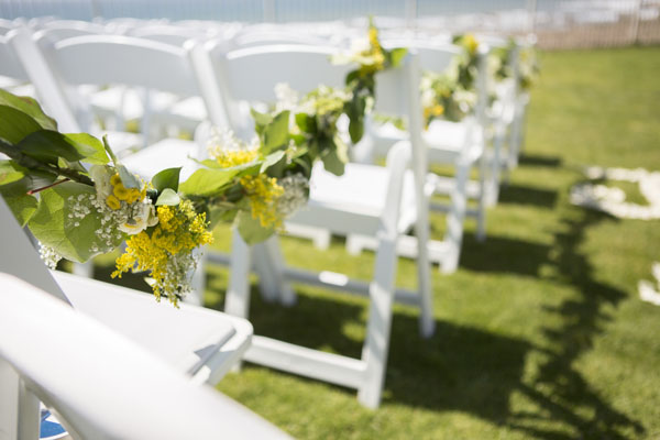 yellow & green floral garland