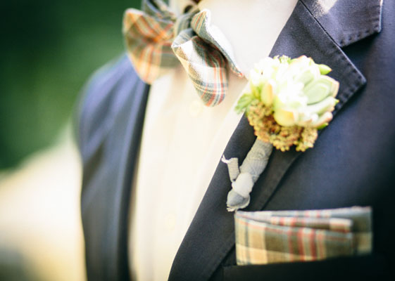 plaid groom accessories