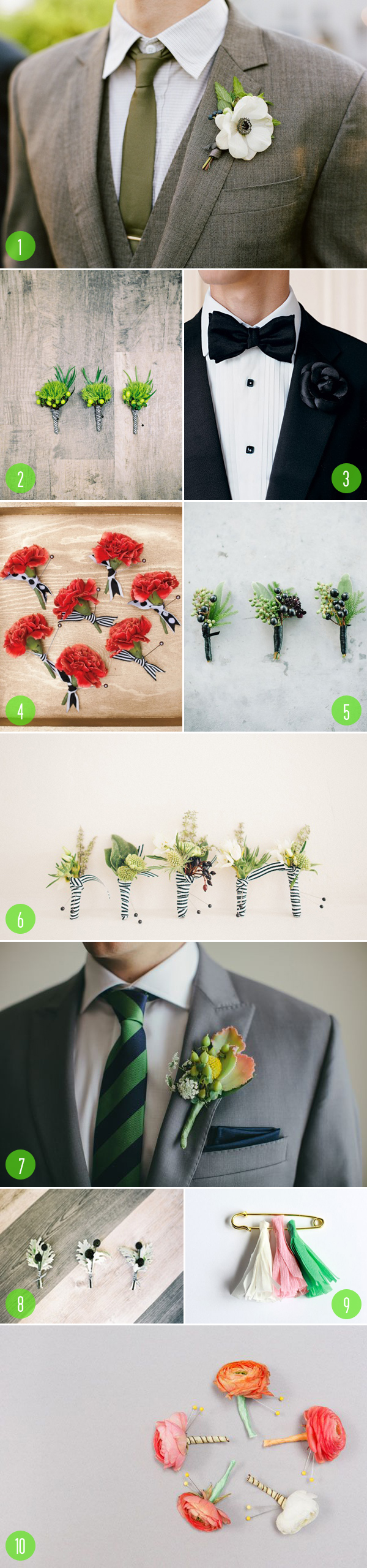top 10: boutonnieres