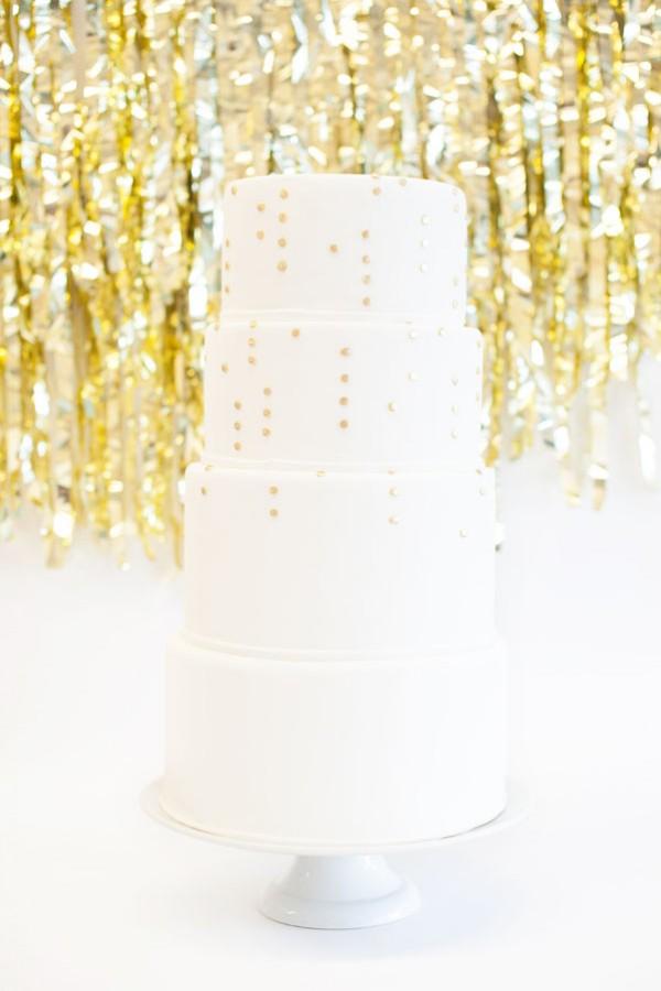gold dot cake