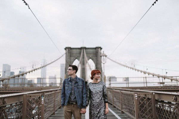 brookbrooklyn bridge engagementlyn bride engagement
