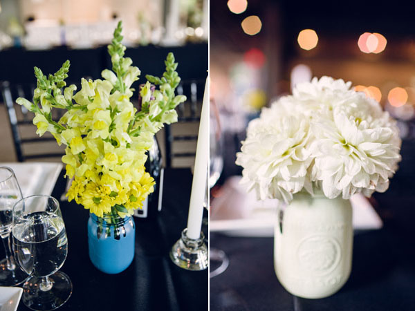 painted jar centerpieces