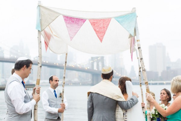 chuppah with bunting