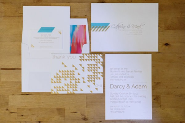 gold triangle invitations