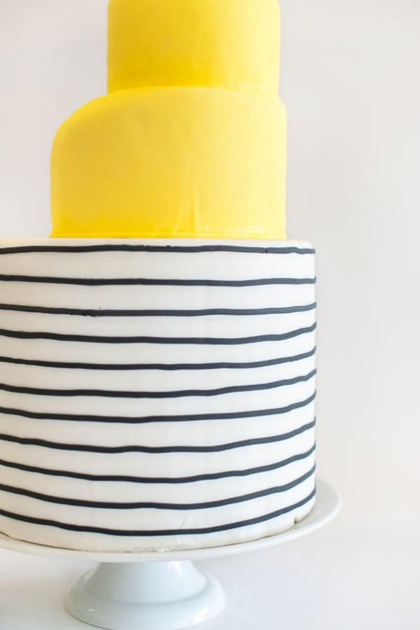 yellow stripe cake