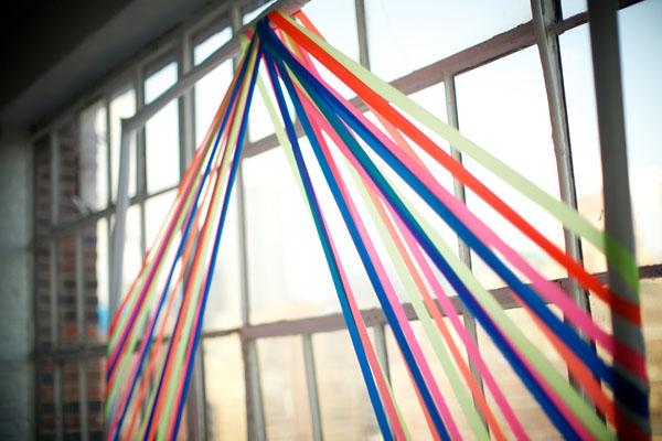ceremony ribbon backdrop