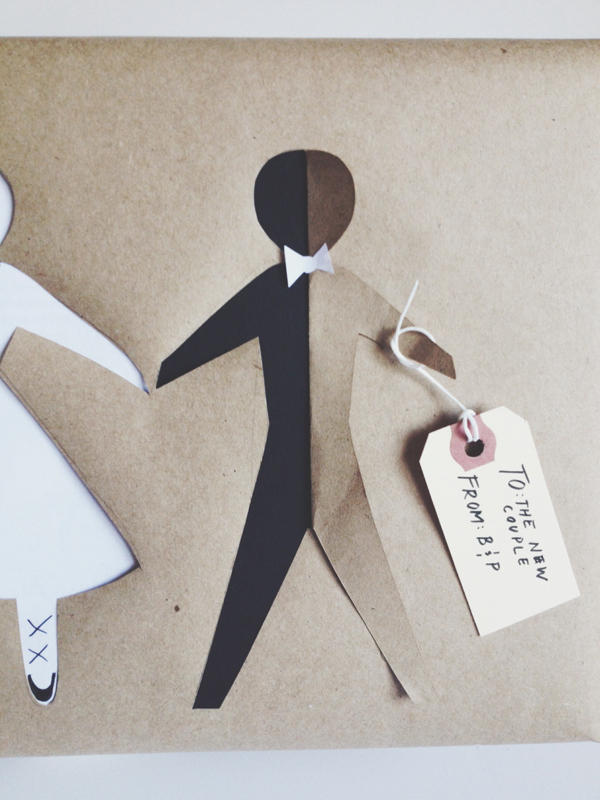 Diy Paper Doll Bridal Gift Wrap Brooklyn Bride Modern