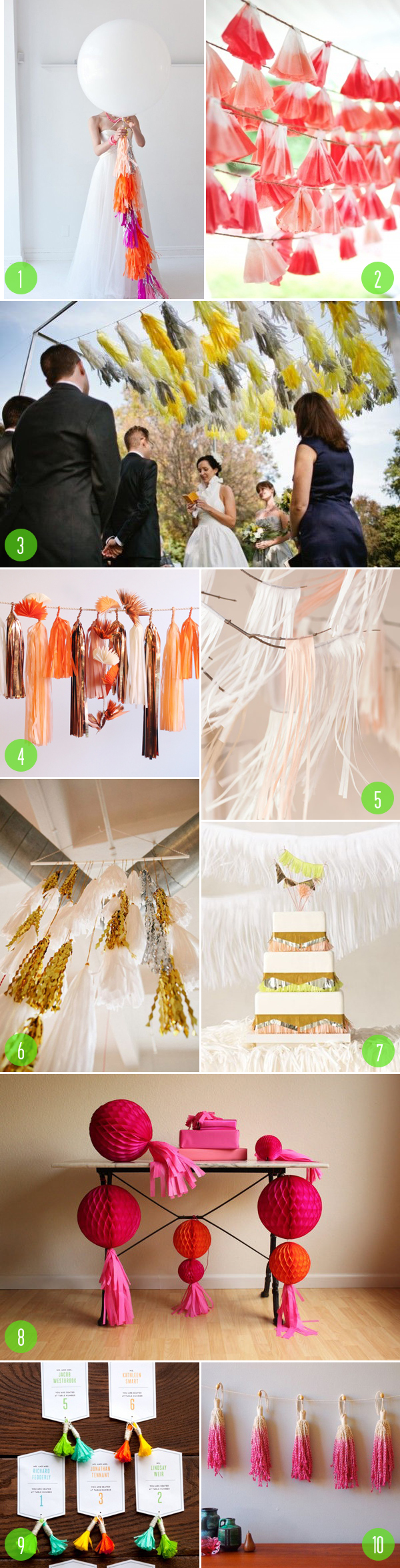 tassels in weddings