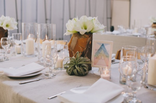 copper & succulent centerpieces