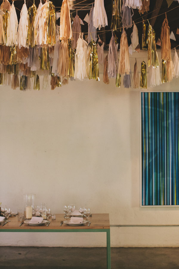 tassel reception decor
