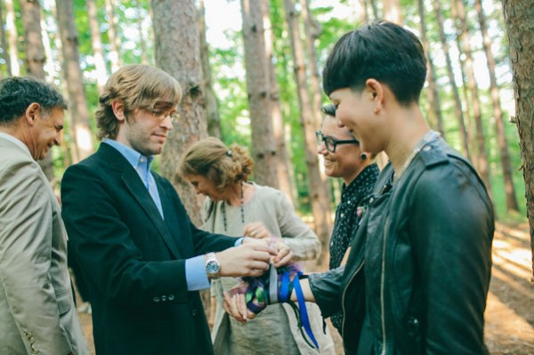 ribbon tying ceremony
