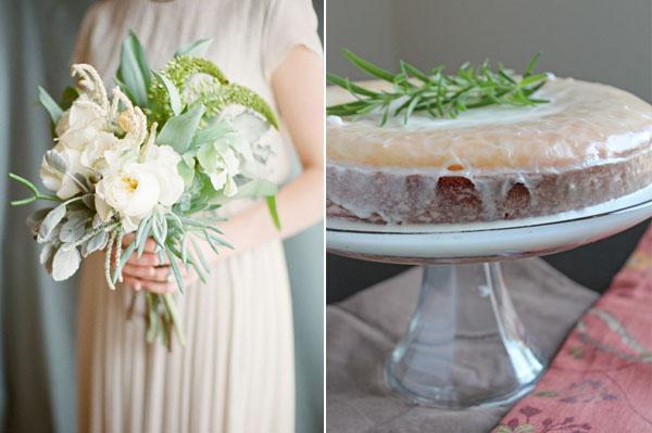 mint bouquet & cake