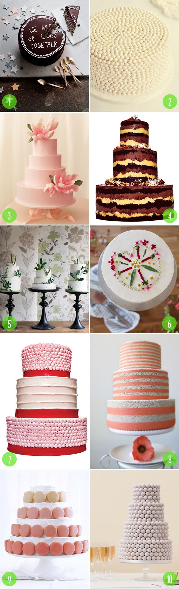 top 10: nonfondant cakes