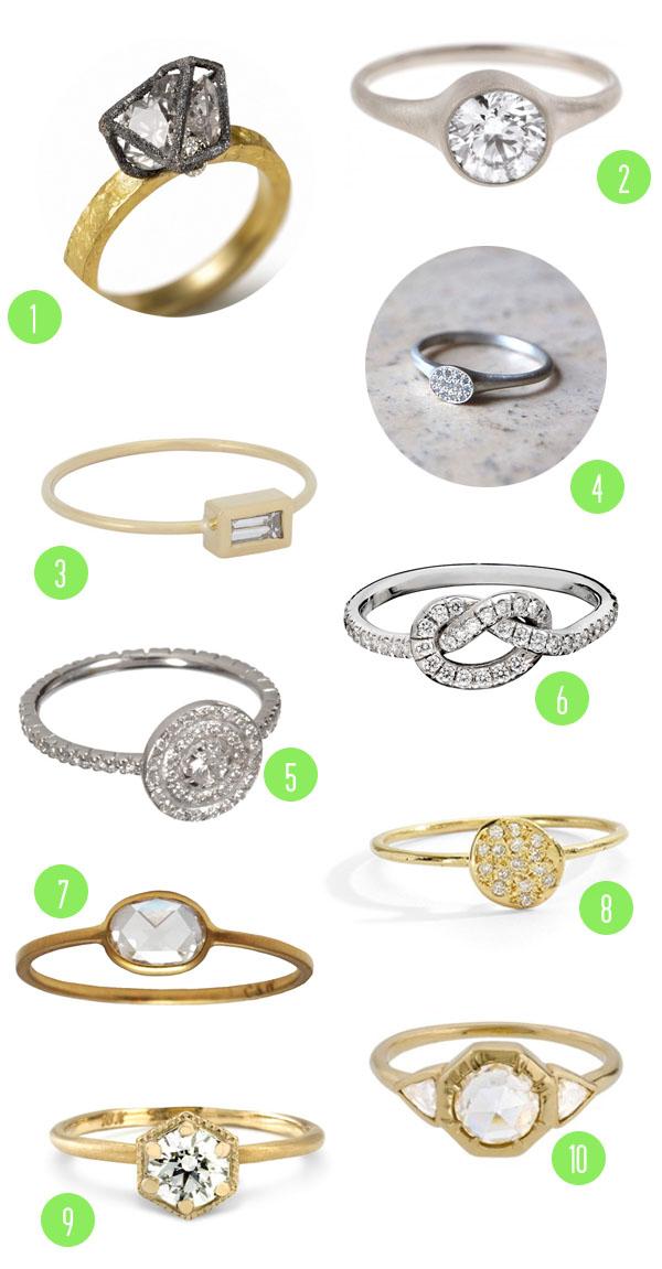 Top 10 Engagement Rings 2 Brooklyn Bride Modern Wedding Blog