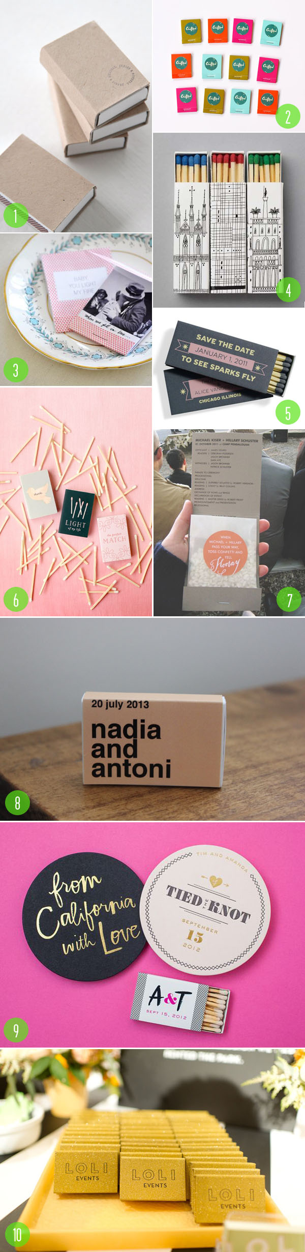 top 10: matchbooks