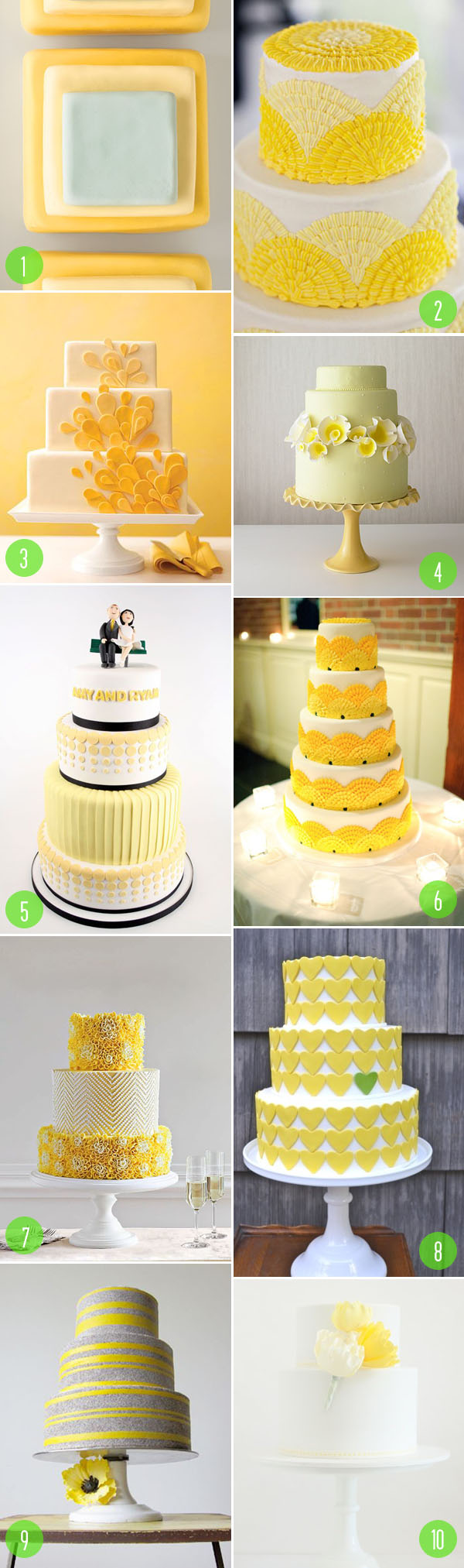 top 10: yellow wedding cakes