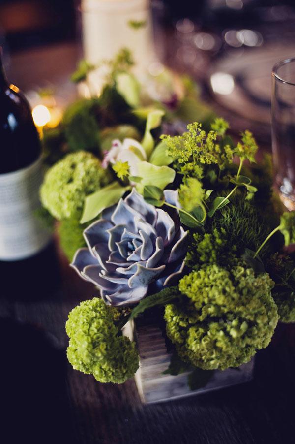 modern green centerpiece