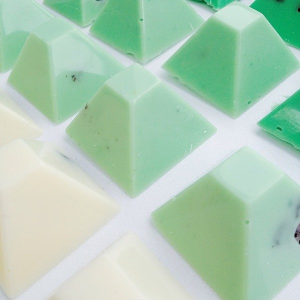mint green chocolate favors