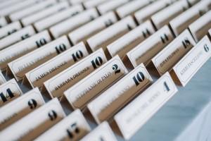 typographic escort cards