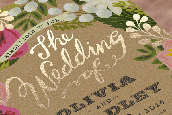 minted foil press invitations brooklyn bride modern wedding blog