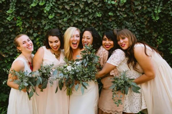 cream bridesmaids dresses